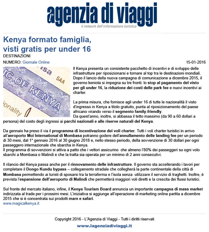 Kenya collegamento pagina